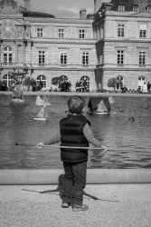Sailboats on the Grand Bassin, Jardin du Luxembourg