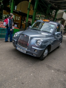 London taxi at the Borough Market