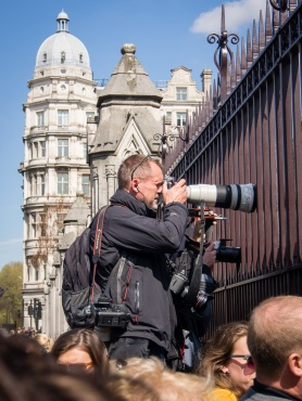 Paparazzi outside the Houses of Parliament, London