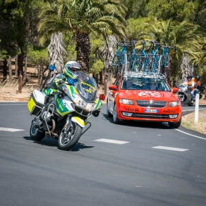 Paramedics ride motorcycles in the SANTOS Tour Down Under