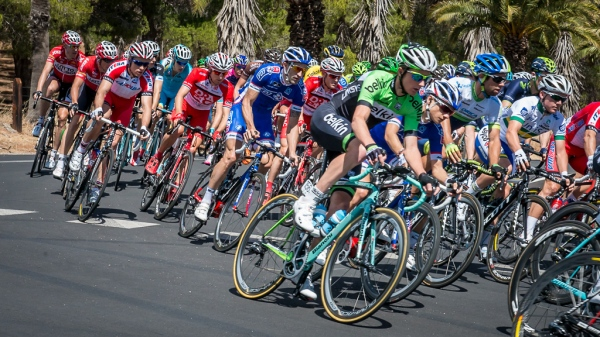 Stage 1 of the SANTOS Tour Down Under through the Barossa Valley in South Australia
